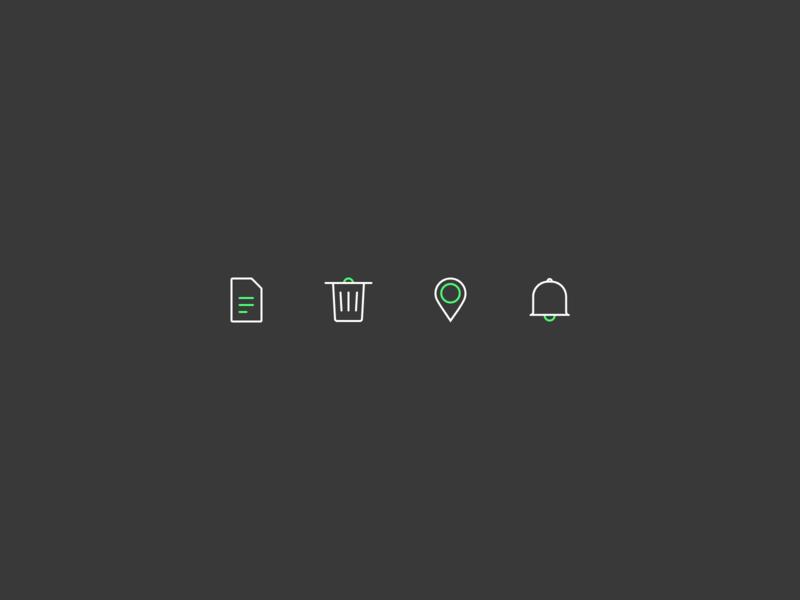 Daily UI Challenge : 055 Icon Set iconset dailyui adobexd ui