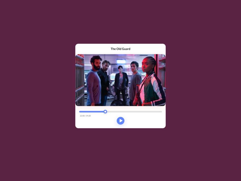 Daily UI Challenge : 057  Video Player dailyui adobexd ui
