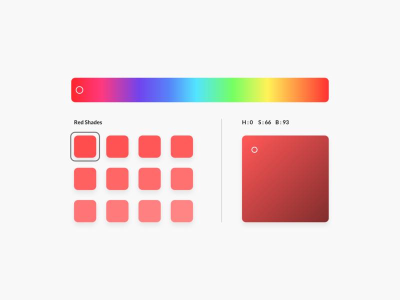 Daily UI Challenge : 060 Color Picker color picker dailyui adobexd ui