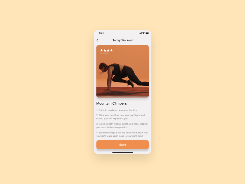 Daily UI Challenge : 062 Workout of the day workout of the day dailyui adobexd ui