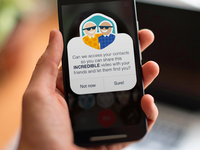 Looksery for Android popup ui ios android ux notification selfie app iphone