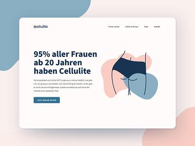 Cellulite Website beauty pastel illustration booty cellulite webdesign