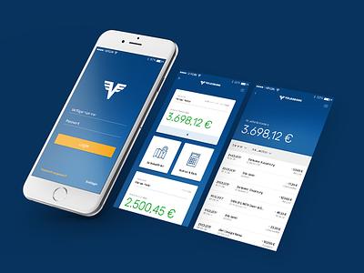 Volksbank Banking App banking app blue ux ui mobile