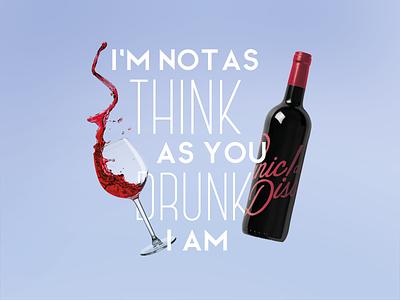 Panic! at the Disco / Lyric Poster typo typography wine lyrics music lyrics poster