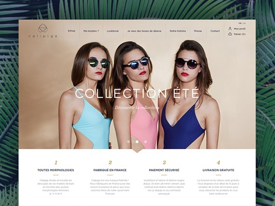 Calipige web design ui eshop swimwear