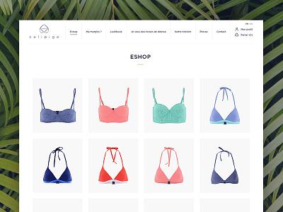 Swimwear webshop web design ui eshop swimwear