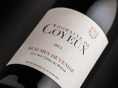 Domaine de Coyeux wine label graphic design print