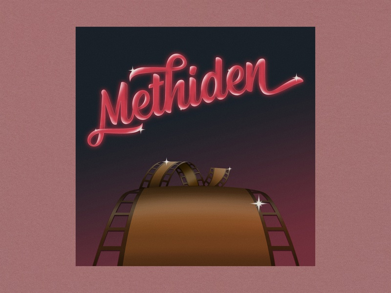 Methiden tape photography photo dribbble vintage psychedelic illustration art abstract airbrush album design 80s