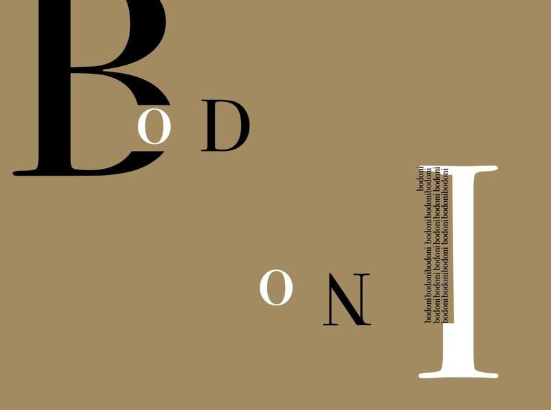 Bodoni. design typography