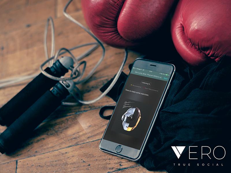 Vero—True Social application uiux design social network vero creative direction