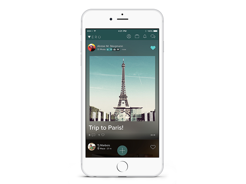 Vero—True Social network social design ux ui application vero creative direction