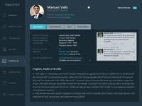 Panoptes ipad application contacts