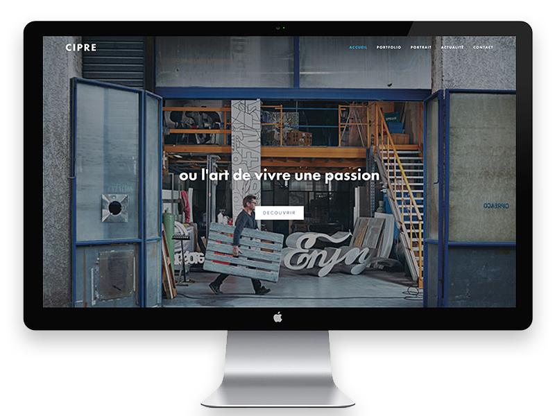 Cipre | Artist art direction uiux website web design sculptures art