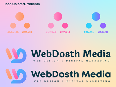 WebDosth Media Logo business card logo design branding