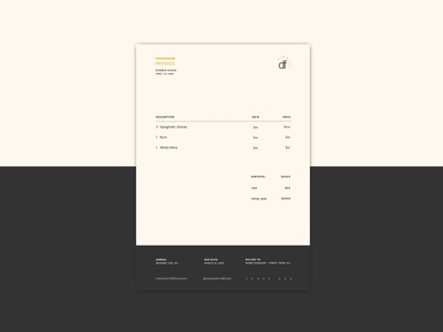 Daily UI challenge #046 - Invoice invoice mockup visualdesigner visualdesign userinterfacedesigner userinterfacedesign userinterface uidesign uiux ui dailyuichallenge dailyui