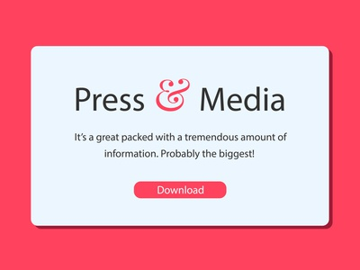 Daily UI challenge #051 - Press Page presspage pink mockup visualdesigner visualdesign userinterfacedesign userinterface userinterfacedesigner uidesign ui uiux dailyuichallenge dailyui