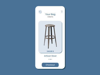 Daily UI challenge #058 - Shopping Cart checkout stool shopping cart blue mockup visualdesigner visualdesign uidesign userinterfacedesigner userinterfacedesign userinterface uiux dailyuichallenge dailyui