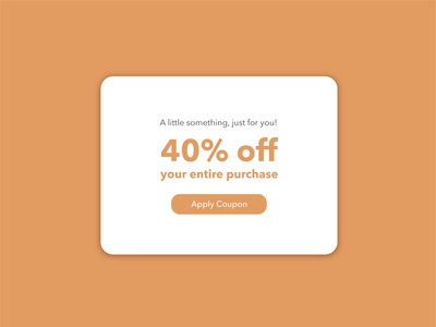 Daily UI challenge #061 - Redeem Coupon redeem coupon brown mockup visualdesigner visualdesign userinterfacedesigner uidesign userinterfacedesign userinterface uiux dailyuichallenge dailyui