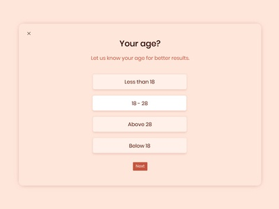 Daily UI challenge #064 - Select User Type age select user type mockup userinterfacedesigner userinterfacedesign visualdesign visualdesigner userinterface uiux dailyuichallenge dailyui