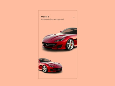 Daily UI challenge #095 - Product Tour product tour model 3 ferrari red ui userinterfacedesigner mockup uidesign visualdesign userinterfacedesign userinterface visualdesigner dailyuichallenge uiux dailyui