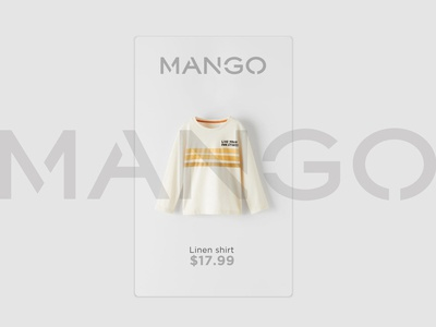 Daily UI challenge #096 - Currently In Stock currently in stock linen shirt mango ui userinterfacedesigner mockup uidesign visualdesign userinterfacedesign userinterface visualdesigner dailyuichallenge uiux dailyui
