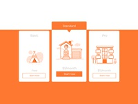 Daily UI challenge #099 - Categories categories pro basic standard orange white userinterfacedesigner mockup uidesign visualdesign userinterfacedesign userinterface visualdesigner dailyuichallenge uiux dailyui