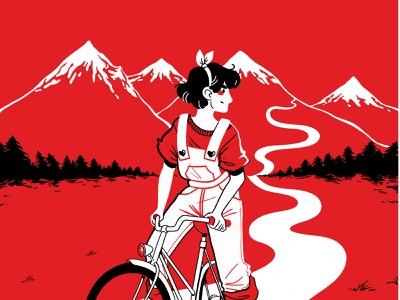 Bike Adventure bike red illustrator illustration