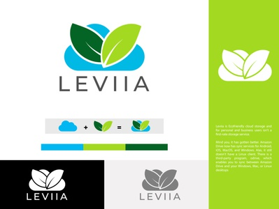 Cloud Leaf Logo logodesign ai logo brand design leaf logo cloud leaf storage leaf storage loog logo design logo cloud leaf logo cloud leaf logo
