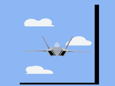 My minimal illustration of a Jet Plane . branding fanart animation vector minimal illustrator illustration flat design art