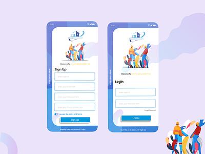 Log in / Sign up UI icon ui art ux graphic design app minimal design flat