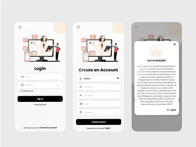 Log In/ Sign Up UI adobe photoshop vector ui art ux graphic design app minimal design