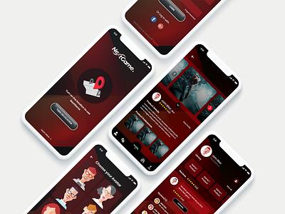 NextGame App UI Concept illustration adobe xd ui flat art ux app graphic design minimal design