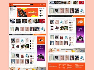 E-commerce Website Design ecommerce design ecommerce website design websites adobe xd flat art ui ux app graphic design design