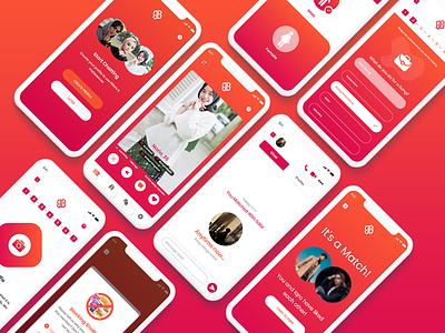 Dating App UI dating couple dating app datingapp illustration illustrator adobe xd art ui app ux minimal graphic design design