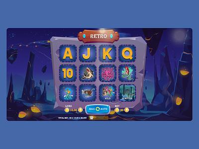 Slot Game UI Design slot game design slot game game ui game design game typography illustration ui ux minimal design