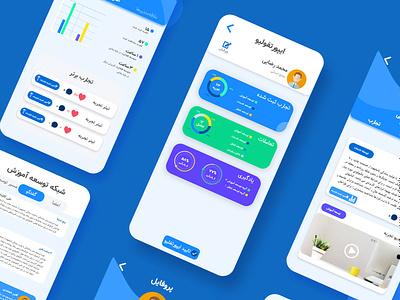 Employee Social Network management working design ui mobile app work