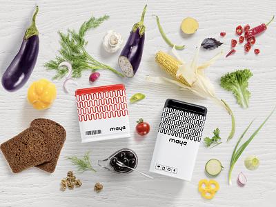 Maya Supermarket - Branding & Identity packaging minimal design font design typography identity design logos logo branding