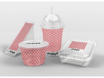 Maya - Clear packaging packaging minimal design typography logos logo font design identity design branding