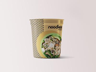 Maya - Noodles Packaging identity designer identity typography minimal packaging logo identity design font design design branding