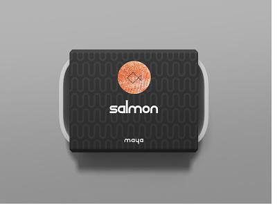 Maya - Salmon Packaging identity designer packaging design identity logos minimal packaging logo identity design font design design branding