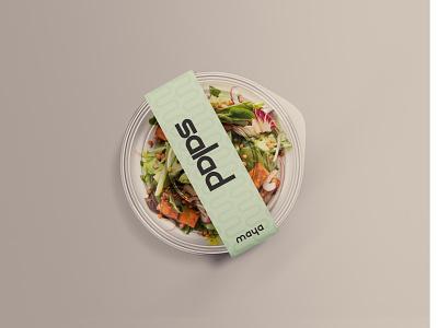Maya - Salad Packaging packaging design identity designer identity logos minimal packaging logo identity design font design design branding