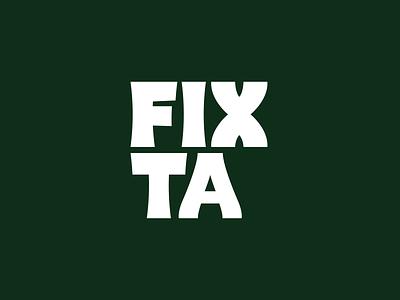 Fixta - Brand Identity Design identity packaging package graphicdesign coffee advertising design logo font design branding