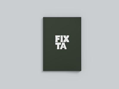 Fixta - Brand Book (P1) coffee advertising typography identity design identity design logo packaging font design branding
