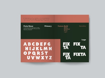 Fixta - Brand Book (P8-9) advertising package coffee typography identity design logo packaging font design branding