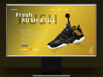 Nike Jordan ux ui vector basketball shoe gradient colors webdesign website jordan nike graphic design animation logo flat web branding minimal design