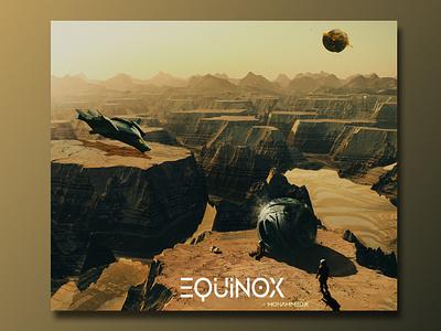 EQUINOX ( SPACE ODYSSEY 🌌 ) spaceship mars astronauts space design minimal graphic design
