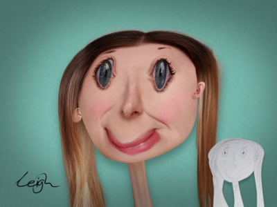 My daughter's drawing of her Mum with some Photoshop