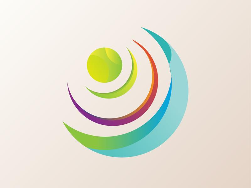 Just Camera designer gradient colorful illustrator minimal flat design logo