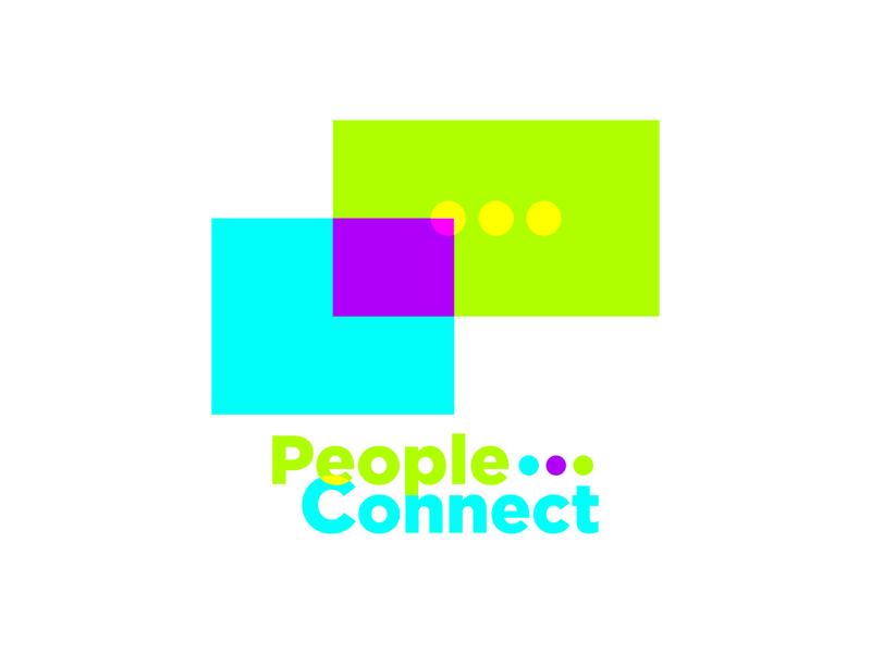 People Conncet Chatting App android chatting app colorful web app branding ui logo minimal illustrator design flat
