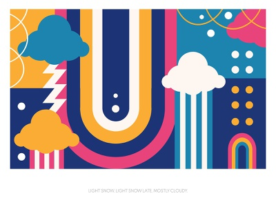 Abstract weather forcast concept abstract design rainbow art color combination abstract poster weather abstract illustration yellow flat vector digital graphic design design illustration